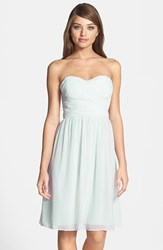 Women's Donna Morgan 'Sarah' Strapless Ruched Chiffon Dress Hint Of Mint