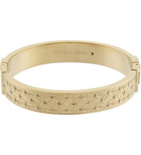 Michael Kors Monogram Etched Bangle Gold