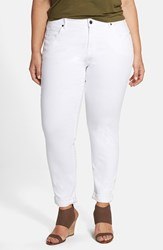 Plus Size Women's Cj By Cookie Johnson 'Glory' Stretch Boyfriend Slim Jeans Optic White