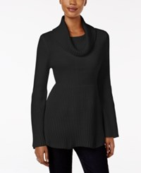 Styleandco. Style Co. Ribbed Cowl Neck Sweater Only At Macy's Deep Black