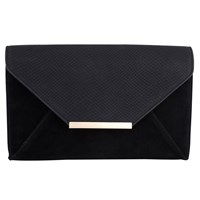 Jacques Vert Snake Effect Clutch Bag Black