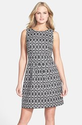 Donna Ricco Women's Two Tone Jacquard Dress