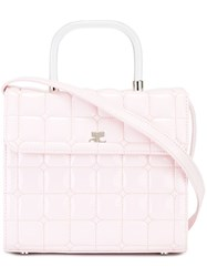 Courreges Quilted Cross Body Bag Pink And Purple