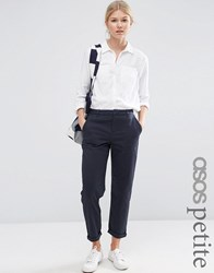 Asos Petite Washed Chino Trouser Navy