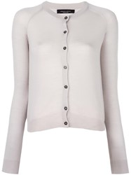 Roberto Collina Round Neck Cropped Cardigan Nude Neutrals