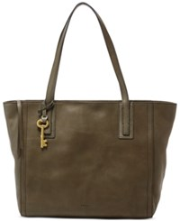 Fossil Emma Leather Tote Canteen