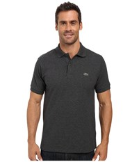 Lacoste Short Sleeve Original Heathered Pique Polo Dark Grey Jaspe Chine Men's Clothing Gray