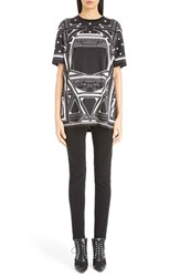 Women's Givenchy Star And Abstract Print Cotton Tee