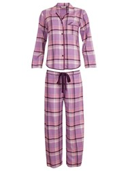 Cyberjammies Purple Haze Checked Pyjamas Lilac