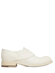 Officine Creative 10Mm Horse Leather Derby Lace Up Shoes White