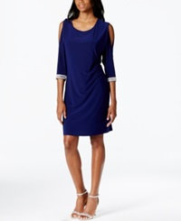 Msk Rhinestone Split Sleeve Cocktail Dress