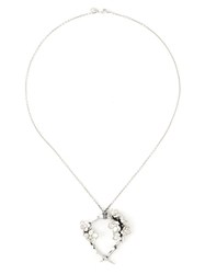 Shaun Leane 'Cherry Blossom' Diamond Necklace Metallic