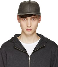 A.P.C. Grey Faux Leather Cap