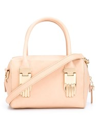 Opening Ceremony Mini Hand Lock Tote Nude And Neutrals