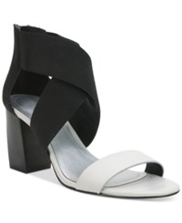 Tahari Aruba Crisscross Strappy Sandals Women's Shoes Black White