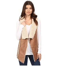 Cruel Faux Leather Bonded Sherpa Fleece Brown Women's Clothing