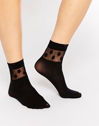 Gipsy Daisy Ankle High Two Pack Socks Black