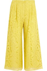 Adam By Adam Lippes Corded Lace Culottes Chartreuse