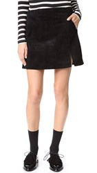 Blank Zip Suede Mini Skirt Seal The Deal