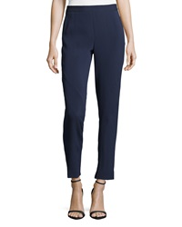 Monique Lhuillier Seam Detailed Crepe Pants Ink