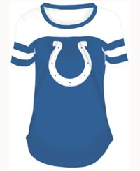 5Th And Ocean Women's Indianapolis Colts Limited Edition Rhinestone T Shirt Blue White