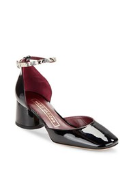 Marc Jacobs Lena Patent Leather D Orsay Heels Black