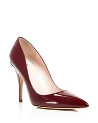 Kate Spade New York Licorice Pointed Toe Pumps Red Chestnut