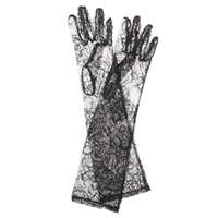 Dolce And Gabbana Lace Gloves Black