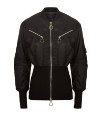 Pinko Oversized Hem Bomber Jacket Female Black