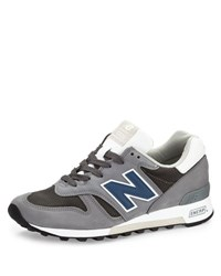 New Balance Men's 1300 Explore By Air Leather Sneaker Navy Gray Grey Blue