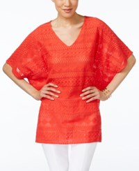 Alfani Lace Poncho Top Only At Macy's Tropical Punch