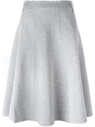 Alexander Wang T By Pleated Knee Length Skirt Grey