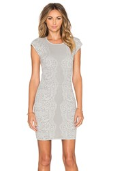 Parker Heartland Knit Dress Gray