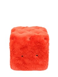 Maurizio Galante For Opinion Ciatti Cat In The Box Faux Fur Pouf Lvr