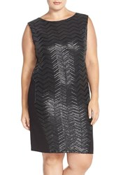 Plus Size Women's Carmakoma Sequin Sheath Dress With Side Zip Detail