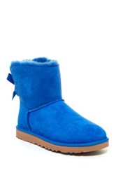 Ugg Mini Bailey Bow Genuine Sheepskin Lined Boot Blue