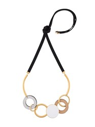 Marni Circular Pendant Necklace Nude And Neutrals