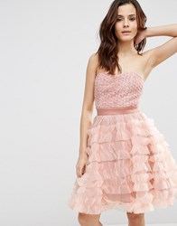 Pixie And Diamond Bandeau Babydoll Dress Light Pink