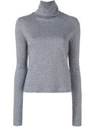 See By Chloe Polka Dot Panel Jumper Grey