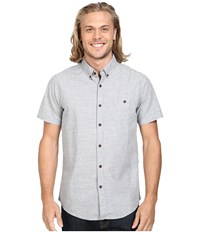 Vissla Spot Search Short Sleeve End On End Woven Grey Heather Men's Clothing Gray