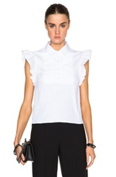 Red Valentino Ruffle Top In White