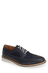 1901 'Syracuse' Longwing Spectator Shoe Men Navy