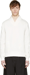 Sasquatchfabrix. Off White Shawl Collar Sweatshirt