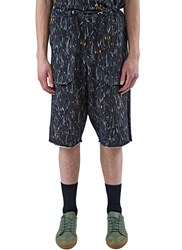 Marius Petrus Long Printed Cargo Shorts