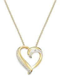 Victoria Townsend 18K Gold Over Sterling Silver Necklace Diamond Accent Heart Pendant