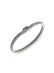 John Hardy Classic Chain Sapphire And Sterling Silver Extra Small Bracelet No Color