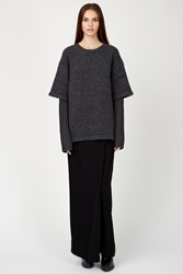 Opening Ceremony Double Layer Oversized Crewneck Charcoal