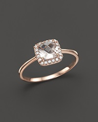 Bloomingdale's Morganite And Diamond Ring In 14K Rose Gold Pink