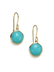 Ippolita Lollipop Turquoise And 18K Yellow Gold Mini Drop Earrings Turquoise Gold
