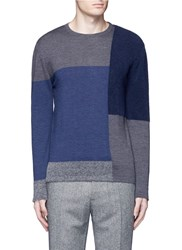 Altea Boucle Colourblock Wool Sweater Multi Colour